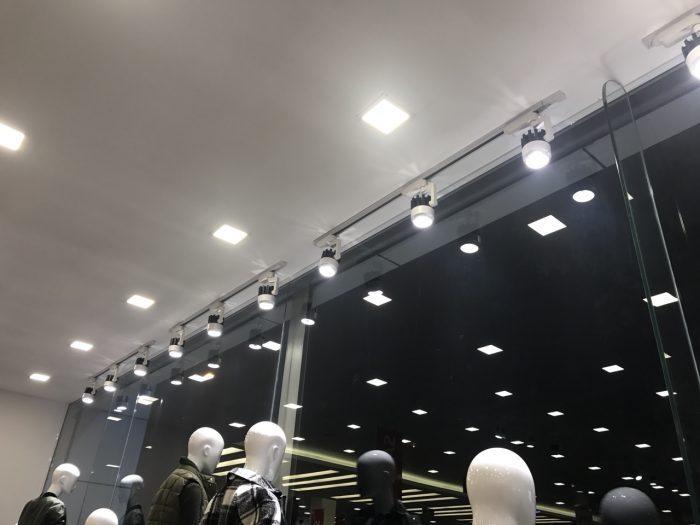 đèn rọi ray COB dạng khuỷu vỏ đen 20W