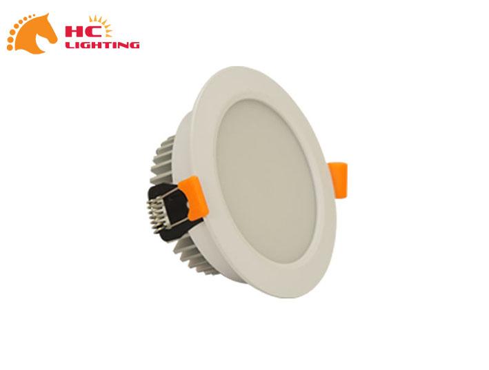 Đèn âm trần HC sơn trắng cao cấp 1 màu 7W