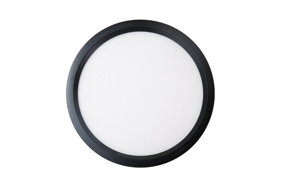 ốp nổi đen mặt tròn luxury 12w
