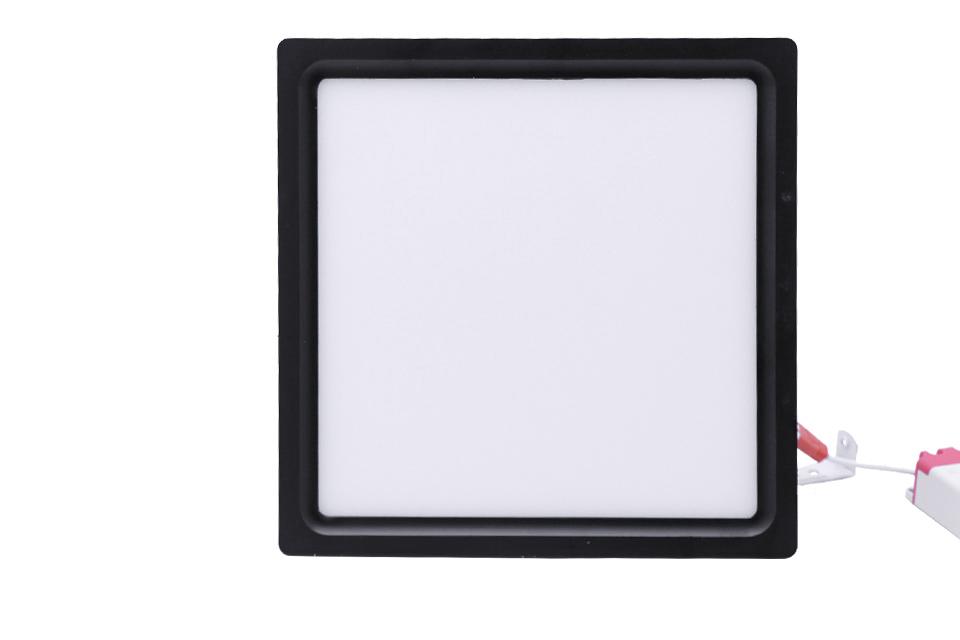 đèn ốp nổi đen mặt vuông 18w