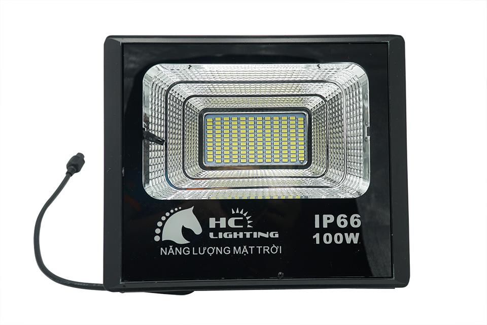 đèn pha led năng lượng mặt trời 100w