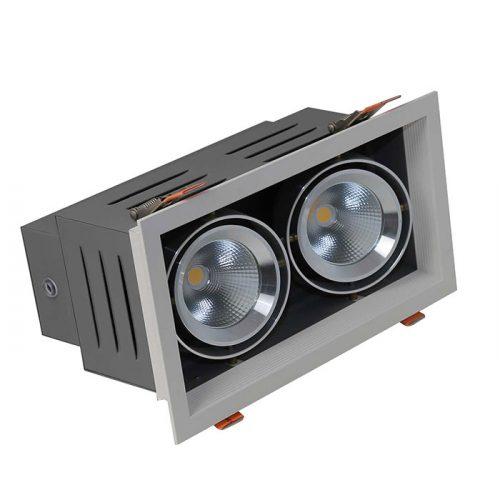 ĐÈN LED ÂM TRẦN DOWNLIGHT ĐÔI COB 9WX2