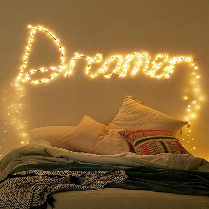 cách sử dụng đèn led dây trang trí phòng ngủ