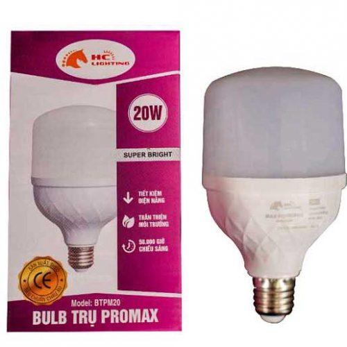 đèn bulb trụ nhôm promax 20w